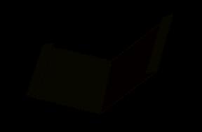 фасонный элемент - отлив с отгибами
