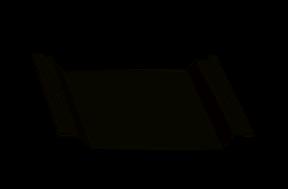 фасонный элемент - нащельник на стык