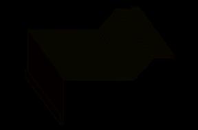 фасонный элемент - нащельник на внутренний угол